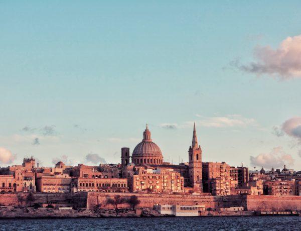 Vue sur la ville de La Valette à Malte, et son incroyable architecture