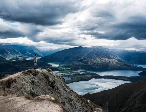 Nouvelle Zélande Roys Peak Pierre